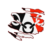 Black Country Flag Inside Rip