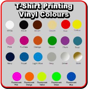 Vinyl Printing Colours