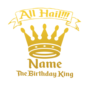 Personalised Birthday King T Shirt