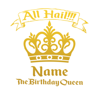 Personalised Birthday Queen T Shirt