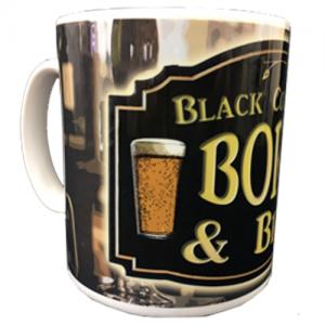 Black country mug Born and bred