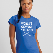 pool player ladies t shirt