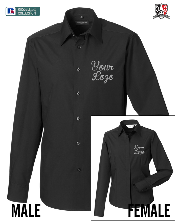 Custom embroidered work shirts black country t shirts for Custom t shirts and embroidery