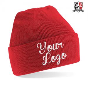 Custom Embroidered Cuffed Beanie Hat