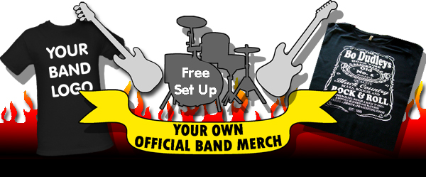 Custom band merch