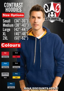 Hoodie CONTRAST size chart