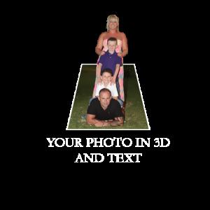 3d Effect Custom Photo T Shirt