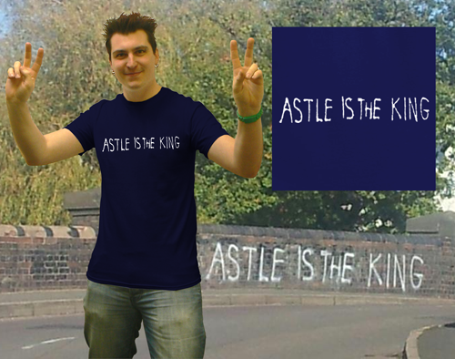 Ast Le astle is the king brom t shirt black country t shirts