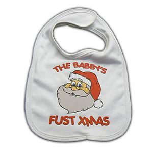 Babbys Fust Christmas Baby Bib
