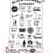 Black Country Alphabet Tay Towel