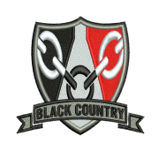 Black Country Shield Embroidered