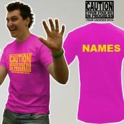 Caution Stag Do T Shirt