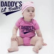Daddys Lil Boster Pink Babygrow