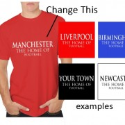 Personalised home of football tee