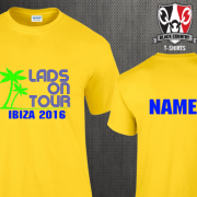 Custom Lads Holiday T Shirts