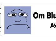 Om Blue Mug