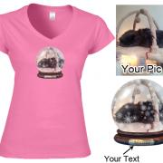 Custom Photo Snowglobe T Shirt