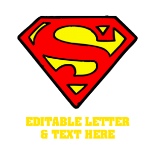 Custom Superman Letter Stag Party