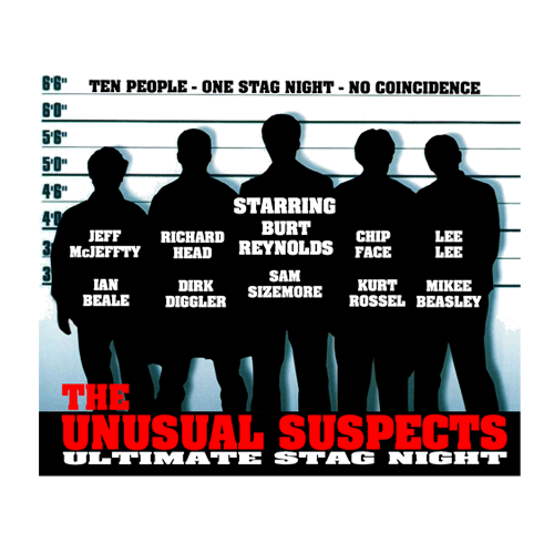 Unusual Suspects - Cool Stag Do T Shirt