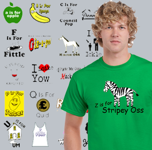 Black Country Alphabet T Shirts