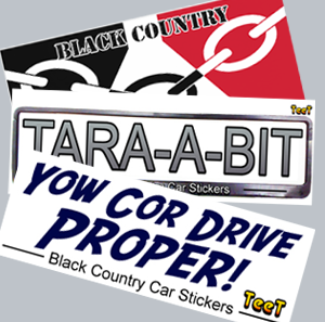 Black Country Car Stickers