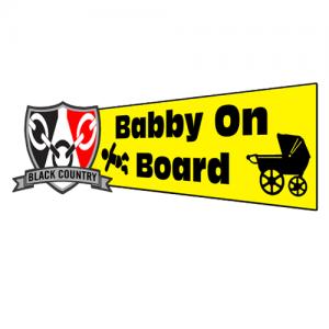 Babby On Board Window Sticker
