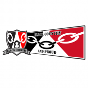 Black Country Flag Window Sticker