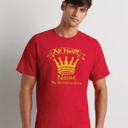 Personalised Birthday King T Shirt