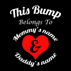 this bump belongs to customised maternity t-shirt