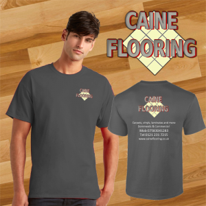caine flooring t shirt