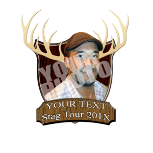 Your photo stag plaque