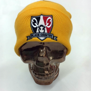 Black Country Beanie Hat Yellow 2