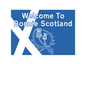 Welcome To Bonnie Scotland road sign T-Shirt