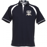 WHITE AND NAVY POLO SHIRT