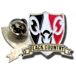 Black Country Shield Pin Badge