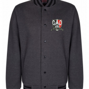 Charcoal Black Country Varsity Jacket