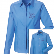 Custom Work Shirt Blue