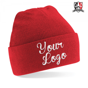 Custom Embroidered Cuffed Beanie Hat