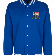 Royal Black Country Varsity Jacket