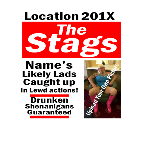 The Stags Newspaper Stag Do