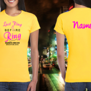 Hen party Last fling before ring t shirt