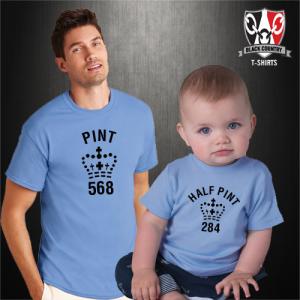 Pint + half pint t-shirt