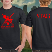 Game of Thrones House Targaryen Stag T shirt