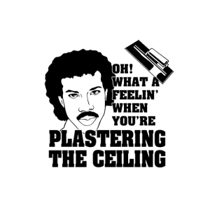 Plastering the ceiling t-shirt