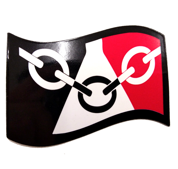 Black Country Flag Fridge Magnet