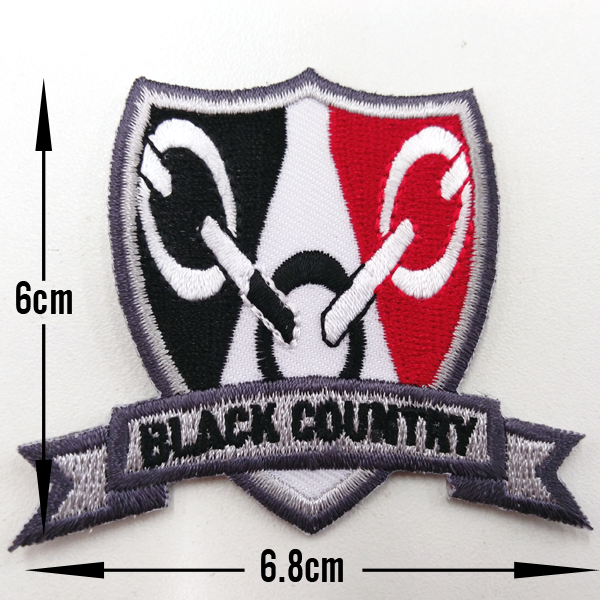 Black Country Shield Patch Size