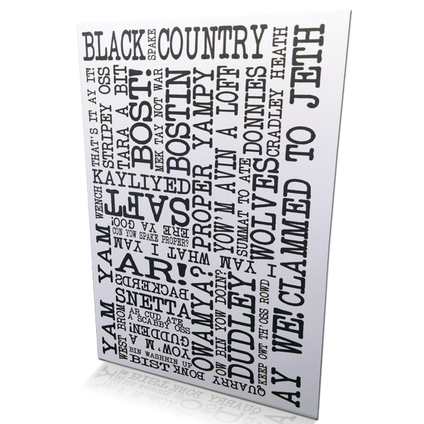 Black Country Spake Greetings Card