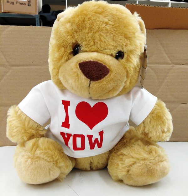 I Heart Custom Printed Bear