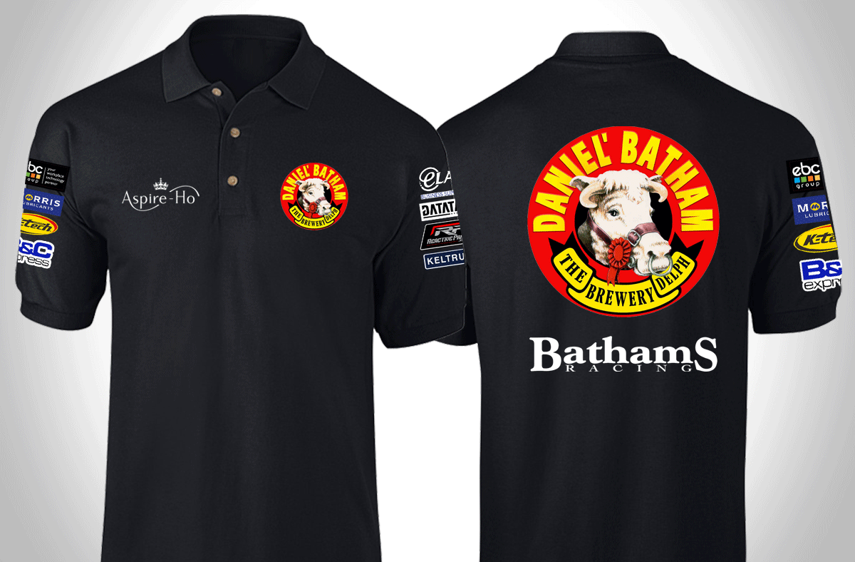 Bathams Polo Front & Back