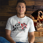 Black Country Paint Splash T Shirt Unisex
